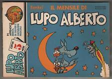 silver + castelli  IL MENSILE DI LUPO ALBERTO N.5  editoriale corno 1984 breus