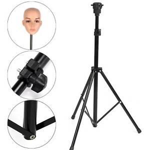 Adjustable Wig Head Stand Mannequin Tripod Holder for Hairdressing Training UK