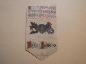 1905.publicité sur vélin (specimen ??) papier cigarette Gaston d'Argy.