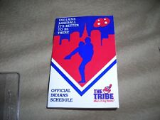 1988 MLB, Cleveland Indians team pocket schedule (pitcher), excellent condition