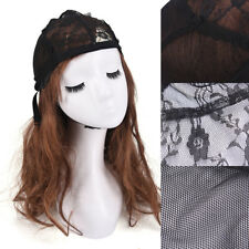 Weaving Wig Cap Adjustable Straps for Making Wigs Lace Mesh Stretchy Net BBUS