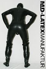 "MD-Latex - ""BLACK"" 0,9mm TUTA in lattice latex rubber latex Overall tuta intera"