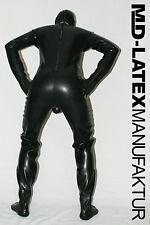 "MD-Latex - ""Black"" 0,9 mm Latex Costume latex rubber latex Overall ganzanzug"