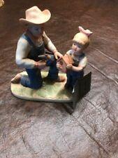 Home Interiors Denim Days Debbies Dad #1515 Homco Figurine