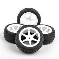 4PCS 12mm Hex Front & Rear Tires Wheel Rim For HSP RC 1:10 On-Road Buggy Car