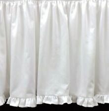 White Solid Three Sided Ruffle Bed Skirt 800 Tc Cotton Open Corner Edge Ruffle