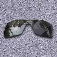 Black Iridium Polarized Replacement Lenses for-Oakley Batwolf OO9101 Sunglasses