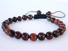 Shamballa Bracelet todos para hombre 8mm Piedra Preciosa Natural Ágata De Encaje Negro Marrón granos