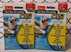 Hartz Ultra Guard Pro Triple Action Flea & Tick Drops - 15-30lbs - 2 pack (A5)