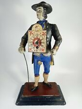 More details for german early 20th century cast metal figure - the clock peddler - jve