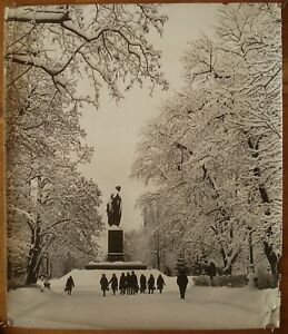 Original Soviet Ukrainian Vintage Photo Shevchenko monument photographer Plaksin