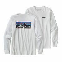 Mens Patagonia Long Sleeve P-6 Logo Responsibili-Tee