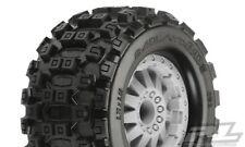 """Pro-Line Badlands MX28 2.8"""" Tires w/F-11 Electric Rear Wheels (Grey) (M2) (2)"""