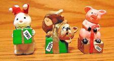 Hallmark Merry Miniatures Christmas 1991 dog pig rabbit packages New presents