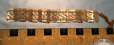 ANCIENT PERU  CHIMU or INCA - CARVED  BIRD BRACELET - Iridescent MOTHER OF PEARL