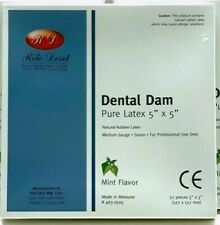 Dental Rubber Dam Green 5 X 5 Medium Mint Kit 3 Box Rd