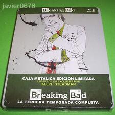 BREAKING BAD TERCERA TEMPORADA COMPLETA BLU-RAY STEELBOOK EDICION LIMITADA