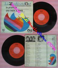 LP 45 7''ZECCHINO D'ORO La piramide Una mela a meta' 1981 ANTONIANO no cd mc vhs
