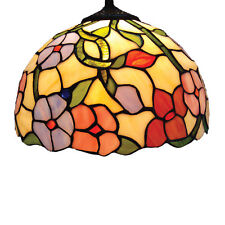 Pendant Lamp Shade Loxton Tiffany Spring Flower 30cm Stained Glass NEW (I)