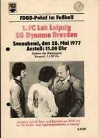 FDGB-Pokal Finale 28.05.1977 1. FC Lok Leipzig - SG Dynamo Dresden in Berlin