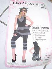 Jr. Small size 3-5 XL Halloween costume Rockin' Raccoon missing glasses dress+