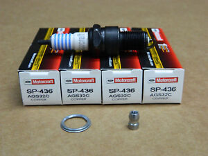 BOX OF 4 NEW MOTORCRAFT COPPER SPARK PLUGS SP-436 W7DX W7DC0 W16EP W175T30 7509