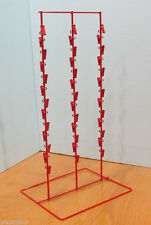"""For Sale Three Round Strip 39 Clip 4 1/2"""" Apart Counter Snack Display (Red)"""