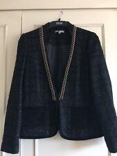 Marks & Spencer - Ladies -  JACKET - BLACK - Wool Mix - Size 12   BNWOT