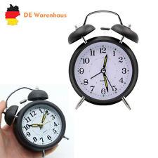 Uhr Aufziehwecker Glockenwecker Nostalgie Doppelglocken Wecker Retro Schwarz