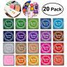 20Teile/Set DIY Stempelkissen Ink Pad Stempel Kissen Bunt Mehrfarbig 20 Farben