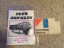 OEM ORIGINAL 1970 AMERICAN MOTORS JAVELIN OWNERS MANUAL COMPLETE BOOK SET