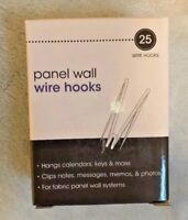25 Advantus Cubicle Panel Wall Wire Hooks Silver Pins 75370 fabric material NIB