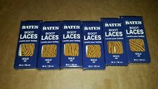 6 Pairs Bates Unisex Shoe Boot Laces 60in Gold