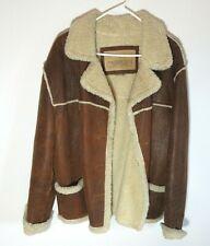 Guess Genuine Leather Shearling Market Jacket Heavy Bomber Coat Men's Medium