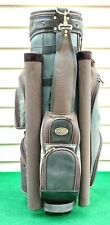 USED MIZUNO GOLF, STURDY CART BAG, BLUE & BROWN COLOR, WITH COVER.