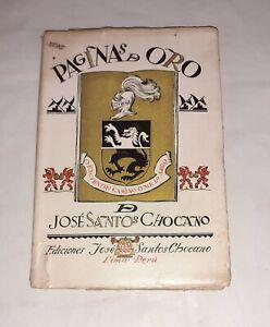 Páginas de oro de José Santos Chocano - Rímac, 1944