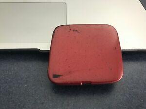 09-14 OEM Nissan Cube front bumper cover tow cap square lid trim plug RED