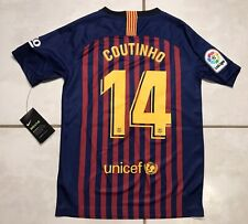 NWT NIKE FC Barcelona COUTINHO 2018 Jersey Youth Large MSRP $100