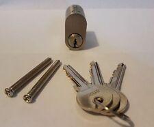 Scandinavian External Oval Lock Cylinder Barrel Silver