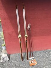 Vintage REI Tur-Langrenn Hickory Cross Country Skis 190cm Nordpol Boots Norway