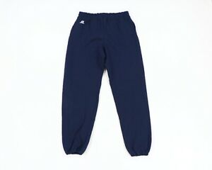 Vintage Russell Athletic Mens XL Spell Out Faded Cuffed Sweatpants Joggers Navy