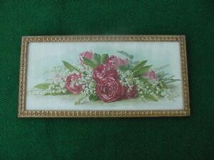 Antique Paul De Longpre Red Roses Framed Print