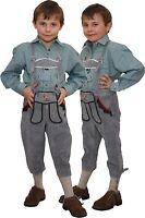 graue Kniebundlederhose mit Träger Lederhose Trachten Kinder   Oktoberfest