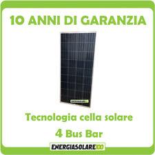 Pannello Solare Fotovoltaico 150W 12V Poli x Batteria Barca Camper Auto + Ebook
