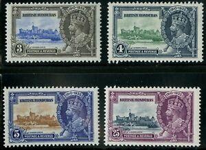 British Honduras  1935   Scott # 108-111  Mint Hinged Set