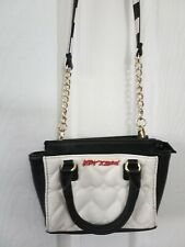 Betsey Johnson Small Heart Quilted Crossbody Shoulder Bag Satchel Purse