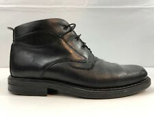 Florsheim Casey Mens Chukka Ankle Boot Black Smooth Leather Lace Up Shoes 10 M