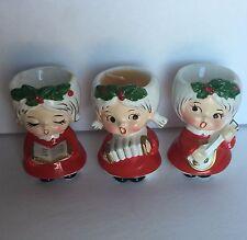 Vintage Japan Lefton Christmas Angels Candles Figurine Set of 3