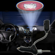 Cute Hello Kitty USB car dome LED logo shadow laser projector atmosphere light