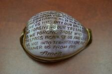 English Lord'S Prayer Hand Carved Cowrie Beach Decor #7025